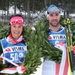 Enrico Nizzi e Antonella Confortola, i due vincitori della Dobbiaco-Cortina.
