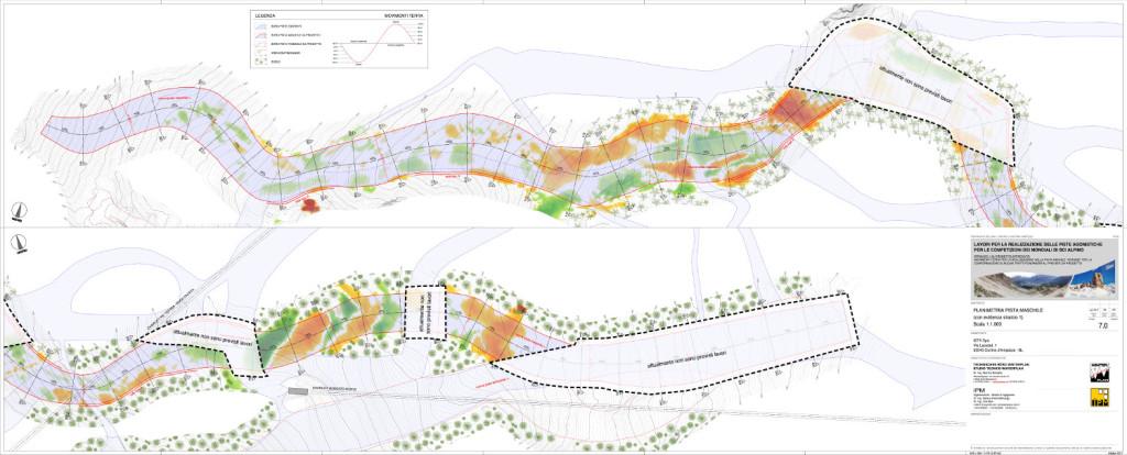 La planimetria della nuova pista Vertigine